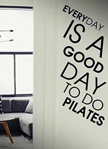 Everyday ist ein guter Tag zu tun Pilates???Workout Sport Fitness Gym Motivation Live Life Familie zusammen Kids Funny Zitat Wand Stikers, inspirierendes Zitat, Motivation Aufkleber Wand Zitat Aufkleber Aufkleber Wand Kunst, Familie Fun Zitat Love Home