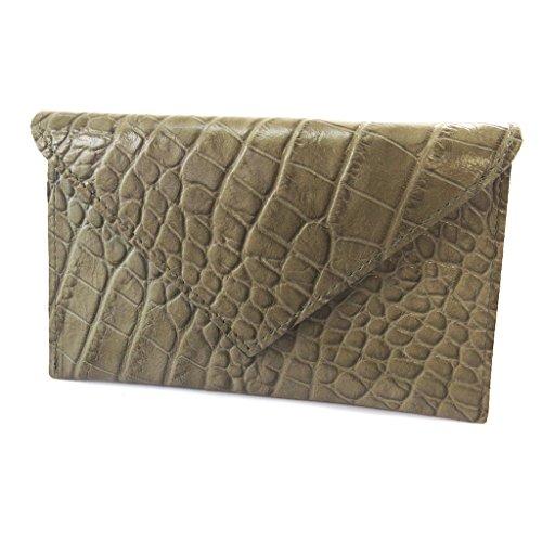 Frandi [N4423] - Ledertürer papiere 'Frandi' taupe croc (slim). -