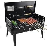 acelec Tron icuk® Nueva BBQ Barbacoa de carbón, plegable, portátil, para camping, viajes, picnic de Jardín de herramientas