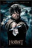 Close Up The Hobbit Poster Die Schlacht der fünf Heere Bilbo (93x62 cm) gerahmt in: Rahmen schwarz