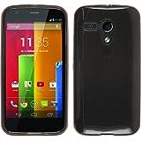 PhoneNatic Custodia Motorola Moto G trasparente nero Cover Moto G in silicone + pellicola protettiva