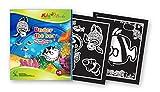 QuackDuck Malbuch Under the Sea - Vitrage designs for Coloring - Unter dem Meer - Malen auf Transparentpapier Fenster-Design - Malblock für Kinder ab 5 Jahre - mit buntem Sammelumschlag zum Einstecken
