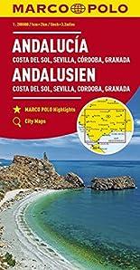 MARCO POLO Karte Andalusien, Costa del Sol, Sevilla, Cordoba, Granada 1:200 000 (MARCO POLO Karten 1:200.000) hier kaufen