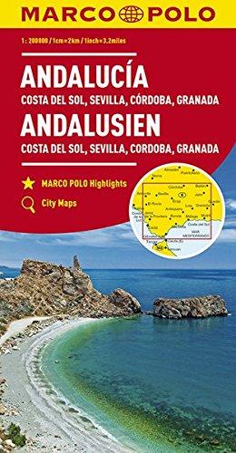 Preisvergleich Produktbild MARCO POLO Karte Andalusien, Costa del Sol, Sevilla, Cordoba, Granada 1:200 000: Wegenkaart 1:200 000 (MARCO POLO Karten 1:200.000)