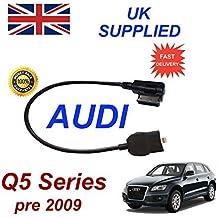 AUDI Q5 Series Pre MY 2009 generación 2 AMI MMI cable de Audio para iPhone 5, 5c 5s 6 y 6 Plus funciona con 8 pin conexión y AUX 3,5 mm enchufe por cable cablesnthings