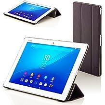 """Forefront Cases® Nueva Funda Case Cover Protectora Plegable de Cuero para Sony Xperia Z4 10.1 Tablet de 10.1"""" – Función automática inteligente de Suspensión/Encendido"""