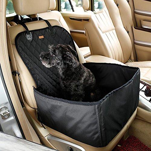 Lohua coprisedili anteriori per animali domestici, proteggi sedile anteriore impermeabile, proteggono il sedile da sporcizia per tutte le auto, camion, suv e furgoni, nero