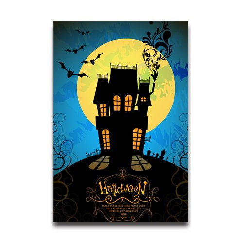 halloween-decor-full-moon-poster-20x30-inch-poster-wall-sticker
