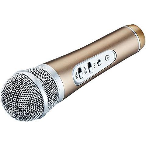 Microfono a condensatore microfono Bluetooth, yares-tech Wireless Portatile per auto Karaoke KTV Lettore Stereo con (Mixer Sound System)