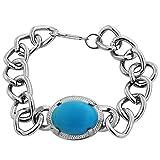 Salman Khan Inspired Bracelet with Blue Color Stone