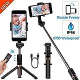 Yokkao Perche Selfie Trépied avec Télécommande Bluetooth Rechargeable Extensible...