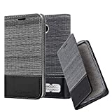 Cadorabo Book Case works with Sony Xperia E1 in GREY BLACK