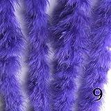 JinYiZhaoMing Truthahnfeder Flauschige Federboa Super Qualität Marabu-Federboa für Party/Kostüm/Schal Türkei violett