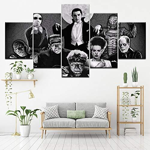 Leinwand Malerei Neue Universal Monsters 5 Stücke Wandkunst Malerei Modulare Tapeten Poster Drucken Wohnzimmer Wohnkultur Poster myvovo-30x40cmx2 30x60cmx2 30x80cmx1 (Sie Monster High Kaufen)