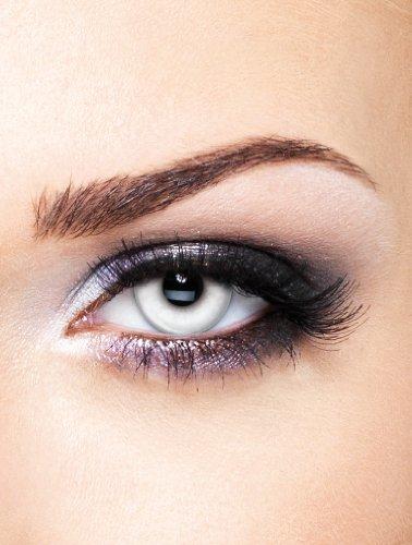 Edit farbige Weiße Kontaktlinsen Crazy Zombie ohne Stärke für Halloween und Karneval
