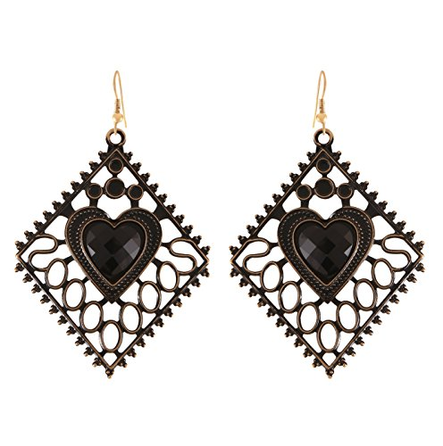 Arittra Antique Design Heart Shape Earring Black Colour ethnic\traditional\tribal\ statement \party style Necklace Set for women and girls-Valentine gift,todays ... ...  available at amazon for Rs.110