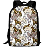 best& Stylish Giraffe Eatting Green Glasses Laptop Backpack School Backpack Bookbags College Bags Daypack