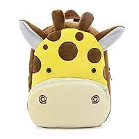Bcony Cute Toddler Kids Children Backpack, Mini Funny Zoo Giraffe Schoolbag for Little Boys or Girls