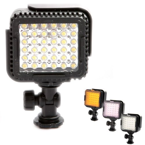 SODIAL (R) Lampada Video CN-LUX360 LED per Canon Nikon Video Camera Camcorder