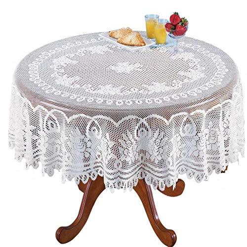 Heimdekoration Strick Floral Spitze Runde Tischdecke Overlay Vintage Tischdecke Topper Hochzeit Party für Zuhause Dekoration ()