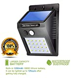#2: Die Hard(TM) , Solar LED Sensor Light with 20 LED's - Ultra Bright - Waterproof and Two Lighting Modes - Outdoor Motion Activated Power Lamp Stick Up Wireless Security IN Night for Outdoor/Garden Wall Led Home Garden, Balcony, Main Door Other Areas (Black Colour)