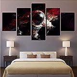 zxfcczxf Rahmenlose Modular Günstige Bilder Leinwand 5 Panel Cosmonaut Moderne Rahmen Für Malerei Kunstwerk Wandkunst Für Wohnzimmer Wohnkultur-40x60cm*2/40x80cm*2/40x100cm*1