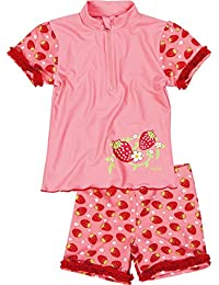 Playshoes Girl's UV Sun Protection 2 Piece Swim Set Strawberries Swimsuit