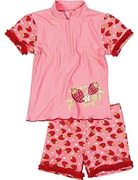 Playshoes Mädchen Bademode 2-teiliges Badeset Erdbeeren