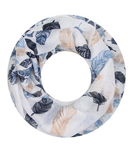 Majea NEUE Kollektion Damen Loop Schal viele Farben Muster Schlauchschal Halstuch in aktuellen Trendfarben (navy 23)