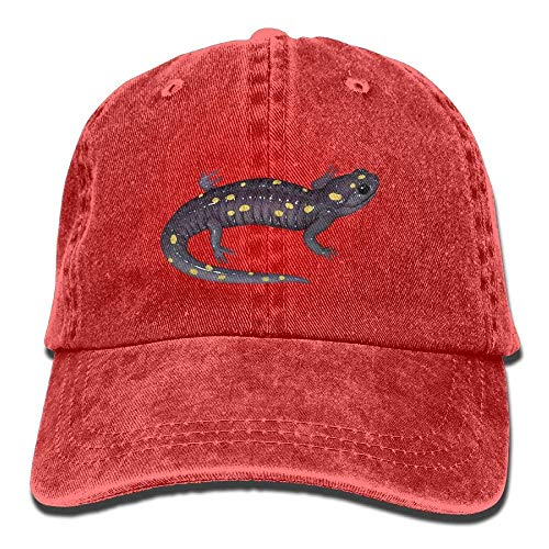 Cowboy Hat Cap for Men Women New Hampshire Mascot Spotted Salamander Gaze