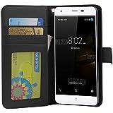 Ulefone Power 4G Funda para Ulefone Power 4G Cover, Vikoo Flip Cover Tapa de Cuero de La PU Case de la Cartera con Ranuras para Tarjetas Incorporadas para Ulefone Power 4G Smartphone Case - Negro
