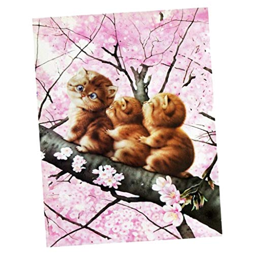 B Baosity Cute Cat DIY 5D Diamond Painting Embroidery Animal Mosaic Pictures Art Craft Kit for Home Mural Decor