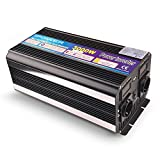 Yinleader Wechselrichter 3000 W für Auto, 6000 W (Maximum) Transformator 12 V auf 230 V, Wechselrichter mit 2 Steckdosen + USB und LED-Display, für Auto, Wohnwagen, Boot, Camping, Reisen