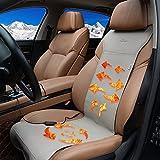 MVPOWER Cuscino Sedile Auto Riscaldabile Cuscino Sedile Riscaldabile e//o con Raffreddamento per Estate Condizionatore Sedile Riscaldato Auto 2 Livelli per Sedia da Ufficio per Casa Auto