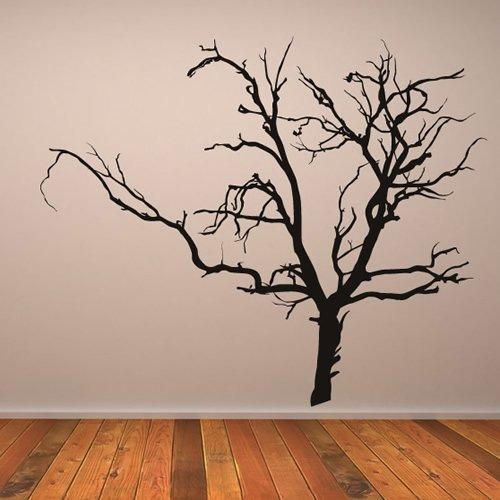 leber Wandtattoo Halloween Kunst verfügbar in 5 Größen und 25 Farben Extragroß Schwarz (Schwarze Bäume Für Halloween)