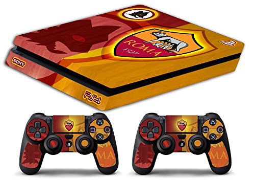 Skin Ps4 SLIM - AS ROMA ULTRAS CALCIO - limited edition DECAL COVER ADESIVA Playstation 4 Slim SONY BUNDLE