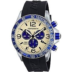 TORGOEN Swiss Herren-Armbanduhr Chronograph Quarz Kunststoff T35303
