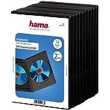 Hama DVD-Doppelhülle 10er-Pack (auch passend für CDs und Blu-rays, mit Folie zum Einstecken des Covers) schwarz