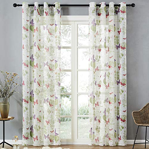 Top Finel Cortinas Elegantes Mariposas Ventana