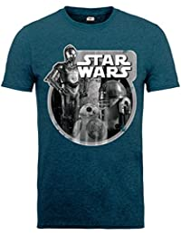 Star Wars Star Wars Vii Droids Assemble Photocopy - Camiseta para hombre
