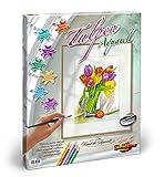 Noris Spiele 602120691 - Schipper Malen nach Zahlen Aquarell - Tulpen, 40 x 50 cm