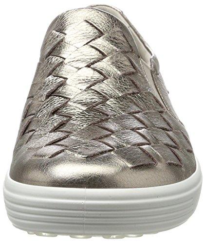 Ecco Soft 7 Ladies, Sneaker Infilare Donna Grigio (Warm Grey)