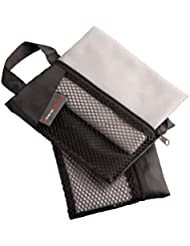 Ultrasport kompaktes Mikrofaser-Reinigungstuch, Sporthandtuch, Fitnesshandtuch, ideal für Reise, Sport und Fitness ca. 30 x 60 cm, schnelltrocknend, 2er-Set