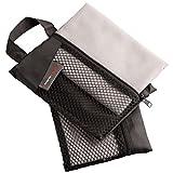 Ultrasport microfibra toalla de manos deportiva Juego de 2, como Fitness, toalla de viaje, muy compacto, con bolsa y botón colgante, de secado rápido.