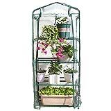 OUNONA Mini invernadero 4 niveles estante soporte portátil jardín verde casa para exterior e interior