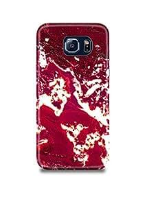 Samsung S7 Edge Cover,Samsung S7 Edge Case,Samsung S7 Edge Back Cover,Red & White Marble Samsung S7 Edge Mobile Cover By The Shopmetro-28041
