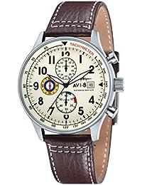 AVI-8 Herren- Armbanduhr Hawker Hurricane Chronograph Quarz AV-4011-04