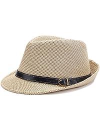doublebulls hats Cappello di Panama Trilby Uomini Paglia Cappello di Estate  dei Ragazzi 2b75cca7e86f