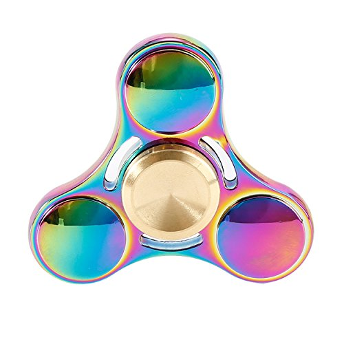Preisvergleich Produktbild Fidget Hand Spinner, RITCHIY Metal Tri Spinners Focus Spielzeug Mit Keramik Lager Für ADHS, HINZUFÜGEN, Angst, Anti Stress für Erwachsene Kinder