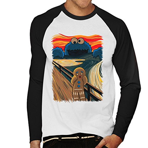 he Scream Shrek Sesame Street Men's Baseball Long Sleeved T-Shirt ()